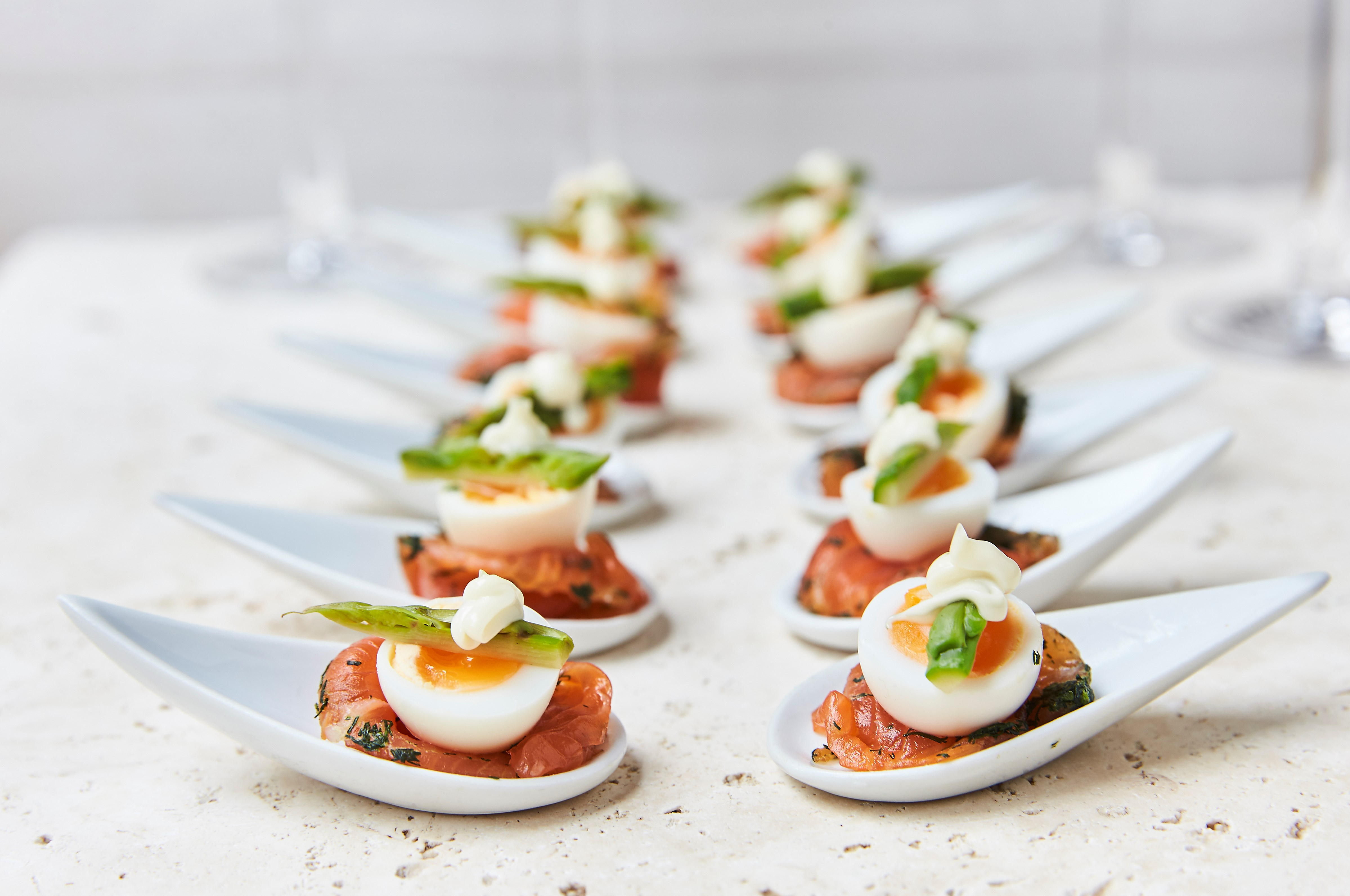 Payne & Gunter summer outdoor canapes